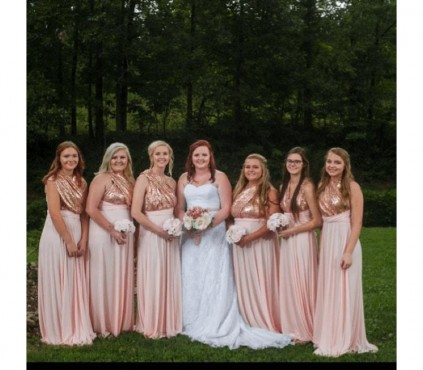 Sequin Infinity Bridesmaid Dress