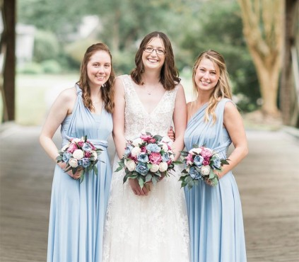 Baby Blue Bridesmaid dress infinity Dress
