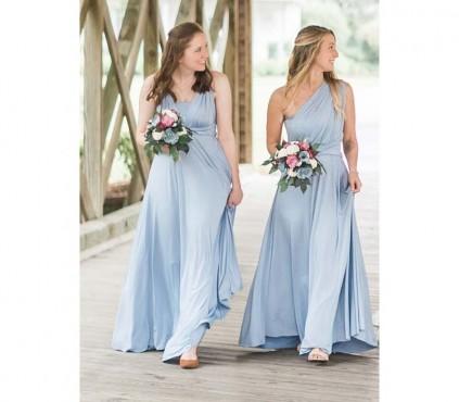 Baby blue infinity dress