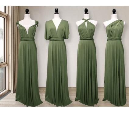 Light Olive green Infinity dress